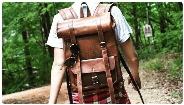 Plecaki skórzane Vintage Eco